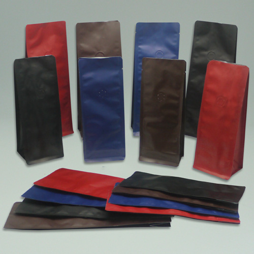 Box Pouch Coffee Bag with Valve - Matte OPP